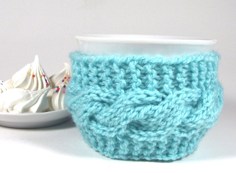 KNITTING PATTERN COZY cup Lazy Morning Coffee Cup holder