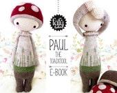 lalylala crochet pattern TOADSTOOL PAUL - amigurumi