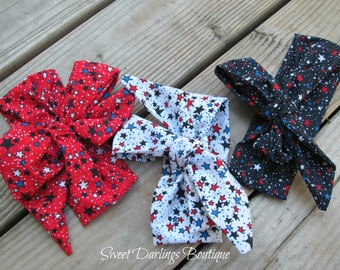 Fourth of July Headwrap Baby 4th of July Head wrap Bow patriotic headwrap Red white and Blue headwrap Baby headwrap Toddler headwrap