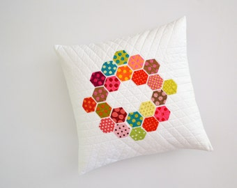 Geometric Pillow Cover, Polka Dot Pillow, Polka Dots, Hexagon Pillow, Geometric Pillow, Pillow Cover, Modern Pillow