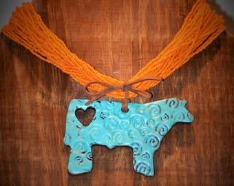 Rustic Show Steer Necklace