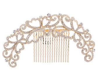 Lady's Luxury Butterfly Hairpins Comb with Rhinestone Crystal XBY073 (More Color)