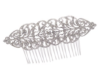 Flower Hairpins Comb for Women Rhinestone Crystals XBY134