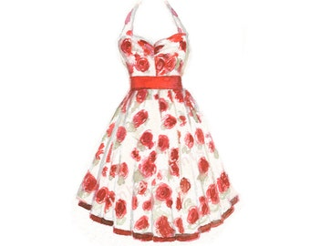 Watercolor Dress, Dress Print, Rose Dress Print