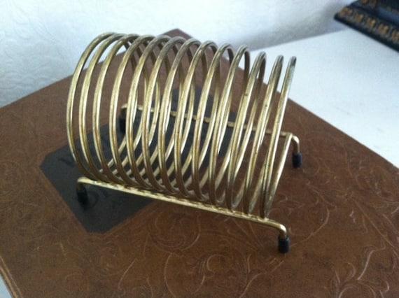 Vintage letter holder spiral metal mail holder desk decor for Vintage letter holder desk