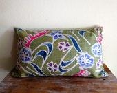 "Hemp  Batik,20""x12""Vintage Textile Decorative Cushion cover, Tradition Ethnic fabric from Thailand"