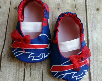 Buffalo Bills Baby Maryjane Booties