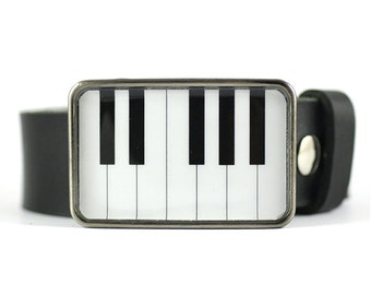 Piano Belt Buckle, Music Belt Buckle