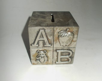 Vintage Silverplate Baby Bank