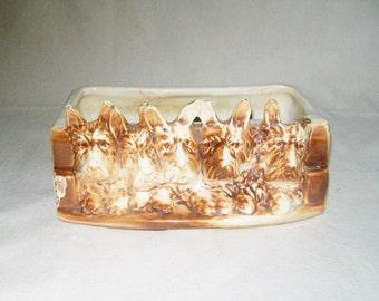 Vintage McCoy Planter Scottish Terrier Planter 1940's FREE Gift*