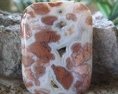 Focal Pendant Bead Crazy Lace Agate Rectangle Bead  40 MM x 30 MM