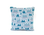 Mountain Range Pillow - Lambswool / Leather pillow