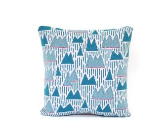 Mountain Range Pillow - Lambswool / Leather pillow