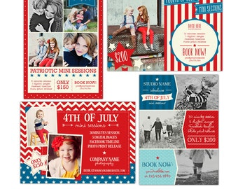 INSTANT DOWNLOAD - 4th of July Marketing board - Photoshop template - E864