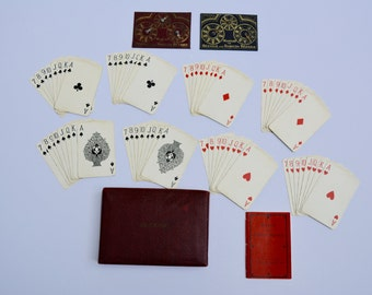 Vintage Bezique Set Vintage Playing Cards Vintage Card Games Antique Bezique and Rubicon Game WD&HO WILLS 1933 Antique Game Vintage Game