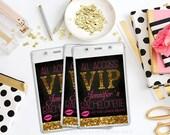 Glitter Bachelorette Party VIP Pass - DIY / Print at Home / Glitter Bachelorette Invitation / Birthday Party Invitation / Glitter Birthday