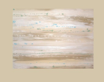 """Original Art Abstract Painting Shabby Chic Acrylic Abstract Painting on Canvas Titled: WHITEWASHED 7 30x40x1.5"""" by Ora Birenbaum"""