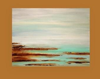 "Art,Painting,Abstract,Acrylic,Original Painting,Canvas Art Coastal Shabby Chic by Ora Birenbaum Titled: Sea Air 30x40x1.5"""