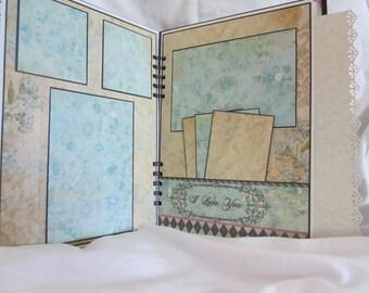 "Premade Wedding Album 8.5"" x 11"" , Scrapbook by Island Lilly Designs"