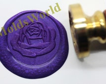 S1088 Rose Flower Wax Seal Stamp , Sealing wax stamp, wax stamp, sealing stamp