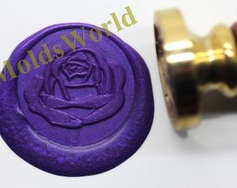 S1088 Rose Flower Wax Seal Stamp , Sealing wax stamp, wax stamp, sealing stamp