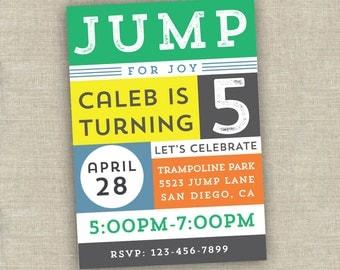 bounce house party invitation - trampoline party invitation