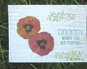 Card Set of 2 - NATURE - Butterflies - Birds - Flowers