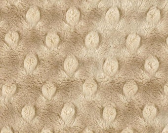 "Minky Cuddle Dimple Dot Latte Fabric - Remnant 21"" x 38"" , Shannon Fabrics"