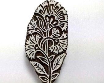 Kashmir Flower Wood Block Printing Stamp-Fabric Printing/Paper Printing/DIY Clay Stamping Block-Scrapbooking and Printing Supply