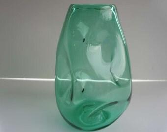 Blenko Vase #921 Seafoam Green 1950s Mid Century Modern Glass