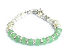 Jade non-Hodgkin Lymphoma Light Green Awareness Bracelet