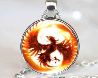 Phoenix Pendant, Phoenix Necklace, Pheonix Jewelry, Phoenix Charm Silver(PD0127)