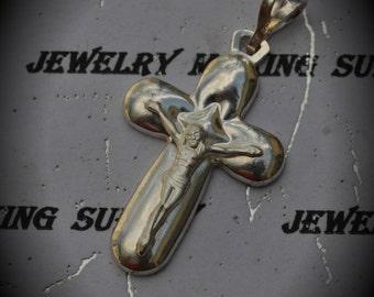 Genuine Sterling Silver Small Crusifix Pendant