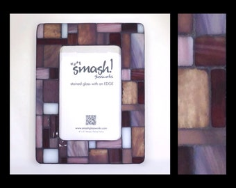Pastiche: Lilac - 4x6 Stained Glass Mosaic Picture Frame