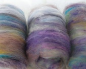 Soft Textured Spinning Batts - Art Batts for Spinning or Felting - ENGLISH GARDEN - Angora, Alpaca, Bamboo, Merino, and Finn Wool Batts