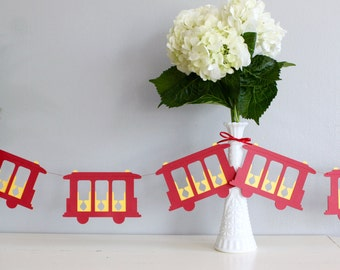 Daniel Tiger Trolley Inspired Paper Garland - 6 Feet - San Francisco Garland