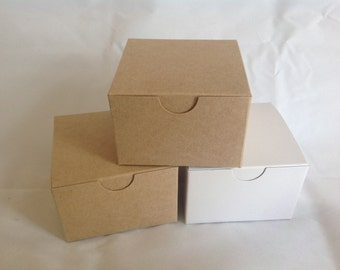 10 Kraft Gift Boxes 5x5x3 fits ornaments candles large items