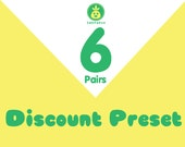 Discount Preset for 6 pair