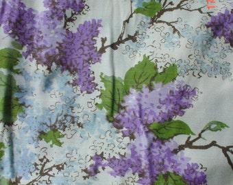 Retro Drapes Lilacs Pleated Romantic French Prairie Farmhouse Chic