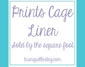 Fleece Cage Liners - Prints - Sold by Square Foot