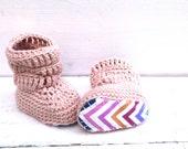 Crochet Booties, Baby Girl Booties, Crochet Baby Boots, Baby Girl