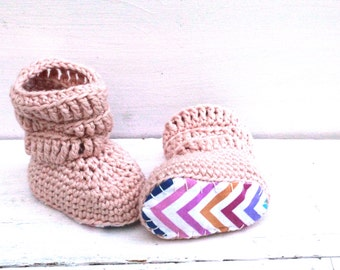 Crochet Boots, Baby Girl Boots, Baby Booties, Pink Baby Shoes, Baby Girl Gift