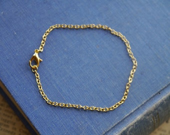 6 Pcs Gold Chain Bracelet with Lobster Clasps (GCN2542)