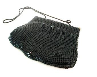 Vintage Black Mesh Handbag