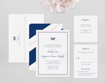 Wedding Invitation Modern Sample - Caroline - Wedding Invitation, Modern Wedding Invitation, Modern Wedding Invitations, Wedding Invitations