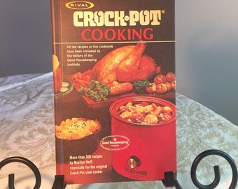 Vintage Hardcover Cookbook Crockpot Cooking by Marilyn Neill Slow Cooker Recipes