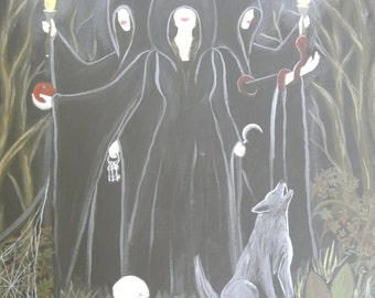 Hekate, Goddess of Witches, Painting