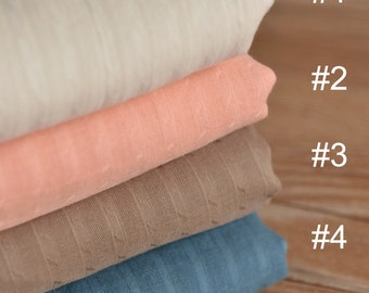 Soft Striped Cotton Gauze Fabric MJ179