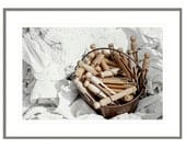 Laundry Room Decor, Vintage Clothespins, Whites, Laundry Room Art, For the Laundry Room, Home Decor, Laundry Room Art