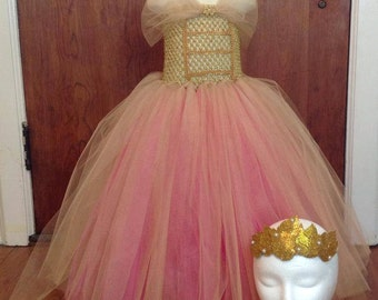 Princess Aurora Coronation Dress ( Maleficent), Renaissance PrincessTutu Dress size  12-18m, 18-24m, 2t, 3t, 4t, 5t, 6, 7, 8